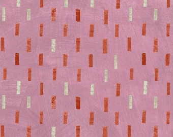 Dreamer by Carrie Bloomston for Windham Fabrics - Dash - Rose Pink - FQ - Fat Quarter - Cotton Quilt Fabric 417