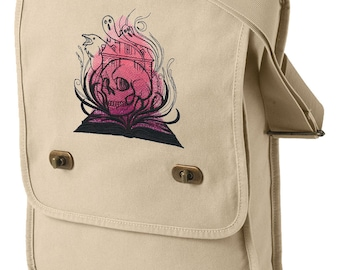Literary Magic - Horror Embroidered Canvas Field Bag