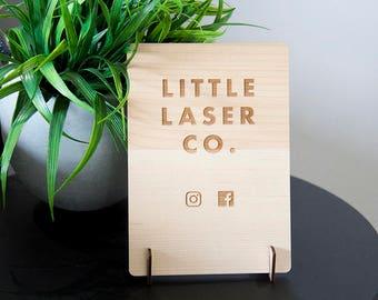 Custom Wooden Display Sign