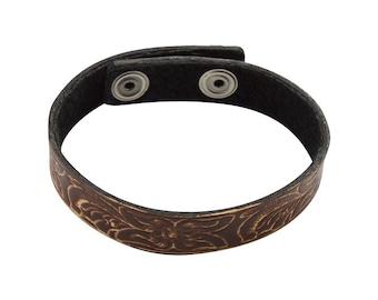 Flower Leather Bracelet, Bracelet, Leather Jewelry, Cuff Bracelet, Leather Bracelet, Bracelet Men, Mens Jewelry, Leather Bracelet Men