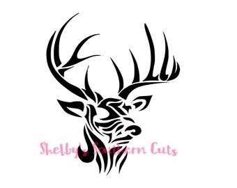 Tribal Deer SVG file