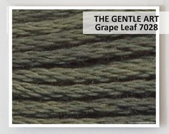 GRAPE LEAF 7028 Gentle Art GAST hand-dyed embroidery floss cross stitch thread at thecottageneedle.com