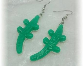 Of greedy earrings - candy crocodiles - Green