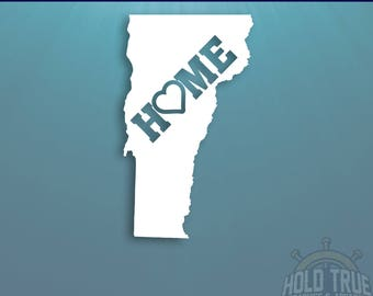 Vermont Decal - PICK COLOR and SIZE - Vermont Home Decal - Vt Decal - Vermont Car Decal - Vermont sticker - Vermont