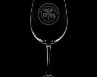 Registered Nurse 13 Ounce Personalized Wine Glass