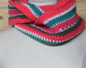 READY TO GO/ Hook/ Crochet/ infinity scarf/ for girl/ bright colors