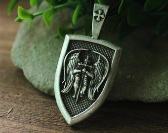 Archangel St.Michael Shield Necklace pendant