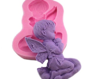 Angel Praying Small Silicone Ice Candy Chocolate Soap Crayon Mold Baking Supplies Jenuine Crafts