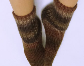 Hand Knitted 100% Acrylic Socks for Women. Size 7-8.