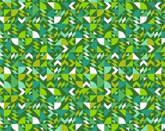 PRESALE - Mixtape - Come On Over in Emerald - Libs Elliott for Andover - A-8867-G - Half Yard
