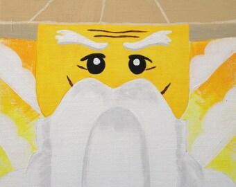 """Ninjago Sensei Wu - Sensei Wu 8x10"""" canvas panel wall art"""