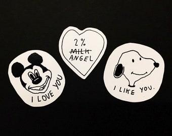 Bootleg Sticker Trio