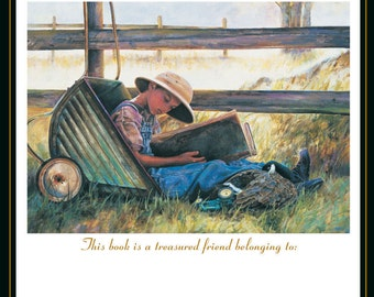 Midsummer bookplate set of 20, original artwork by Lori Preusch