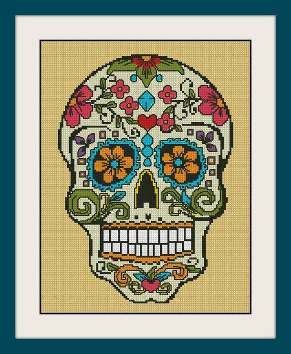Sugar Skull Inc Cross Stitch Pattern Bogo Pdf Counted
