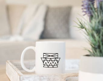 Statement Mug - Designer Coffee Mug - Gift for Boss Mug - Boss Girl Mug - Geometric Mug - Boho Coffee Mug - Gift for Her - Sister Mug