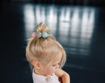 Wool Felt Ball Hairclips