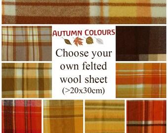Felted wool fabric / Wool felt fabric - Vintage wool felt blanket sheet for CRAFT & Rug hooking / Hook rugs craft - woven fabric - Australia