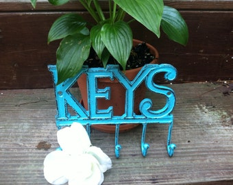 Key Holder, Shabby Chic Key Holder, Wall Hanger, Hook, Home and Garden Decor