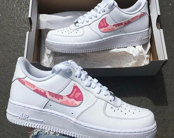 Custom Pink Camo Bape Nike Air Force 1 Low