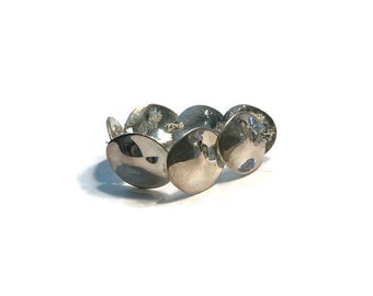 Modernist Bracelet, Silver Tone Disc Link Bracelet, Costume Jewelry