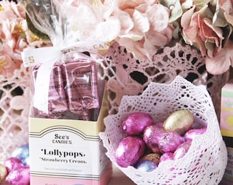 Easter basket. wedding basket. lace tealight holder. lace candy holder. lace container. wedding lace container. vintage lace basket.