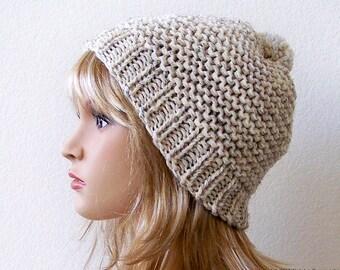 Knit Hat With Pom Pom Hat Pom Pom Beanie Hat Knit Beanie Chunky Knit Hat Chunky Knit Beanie Chunky Hat Chunky Beanie Winter Hat Handknit Hat