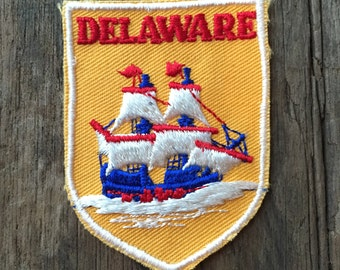 Delaware Vintage Souvenir Travel Patch by Voyager