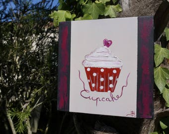 Painting Red Delicious cupcake