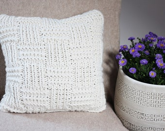 Knitting PATTERN pillow - Fisherman's cushion cover pattern, homedecor patterns  - Listing70