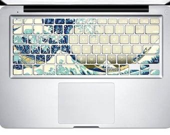 Sea wave Decal Macbook Keyboard Stickers Macbook Keyboard Cover Macbook Decal Stickers Macbook Keyboard Decal Keyboard Skin