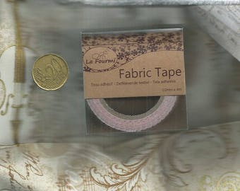 Pink Fabric Tape with red dots - 15mm x 4m
