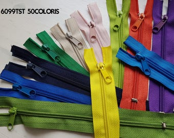 Closure not separable nylon 6 in 50 colors, 10cm to 100cm long