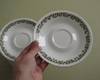 Vintage Corelle Crazy Daisy Saucer Plates - Set of Four - 6 1/4  inches in diameter