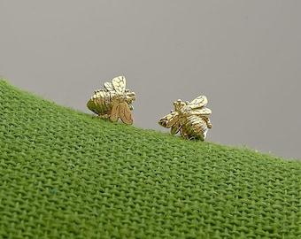 Bee Babies - 18kt gold earring studs