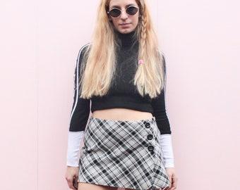 Vintage Y2k Checked Mini Skirt