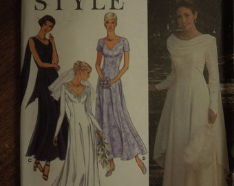 Simplicity 9162, sizes 8-18, dress, formal, evening wear, wedding, misses, womens, UNCUT sewing pattern, craft supplies