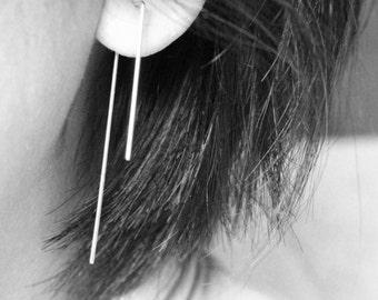 Sterling silver earrings - Silver wire earrings