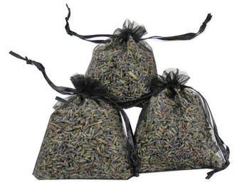 Wedding Favors Lavender Sachets Set 12PCS, Bridal And Baby Shower Favors Dried Purple Sachet Pouches For Aromatherapy, Potpourri - LS001-17