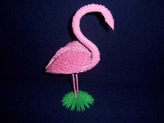 3d Origami Flamingo