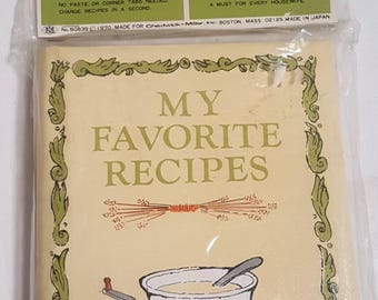 Vintage 1970 Recipe Book My Favorite Recipes