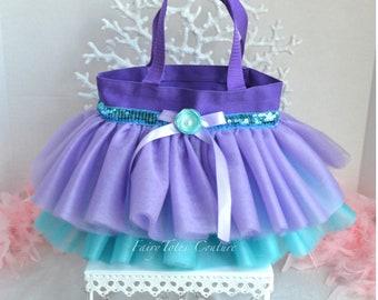 Princess Tutu Tote Bag Medium Size - Little Mermaid Inspired Tutu Tote Bag