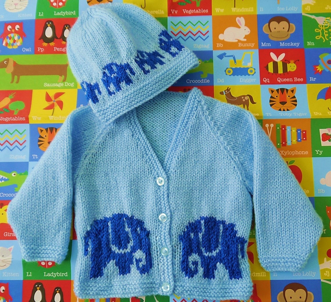 Knitting Pattern for Baby Jacket and Hat, Baby Cardigan and Hat ...