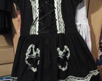 Kawaii OP lolita dress - Black & white