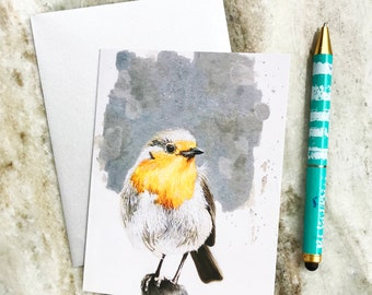 Robin Greeting Card, watercolor card