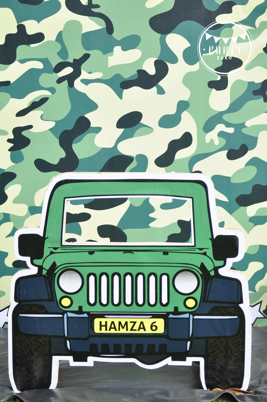 Armee-Photobooth Armee Photobooth prop Armee Prop Jeep
