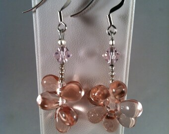 Beaded Earrings - Affordable Jewelry - Gift for Her - Beaded Jewelry - Dangle Earrings - Pink - Handcrafted - Handmade - Great Gift