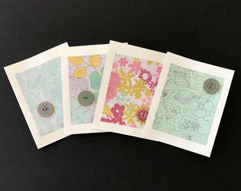 HandMade Greeting Cards (Pale Florals)