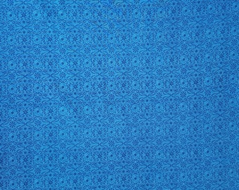 100% cotton Blue patterned fabric