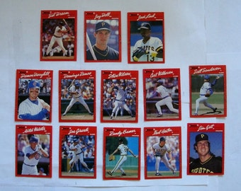 These 13  (ex cond) MAJOR LEAGUE Baseball cards  All are 1990 series cards by DONRUSS.  see description