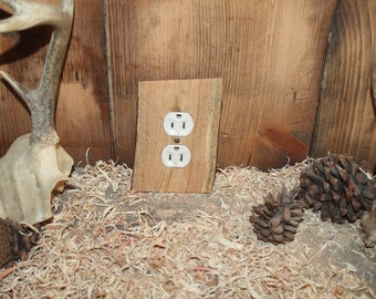rustic outlet cover